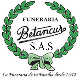 En Medellin servicios funerarios de la funeraria Betancur logotipo